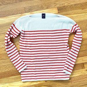 Striped Boatneck Chunky Sweater